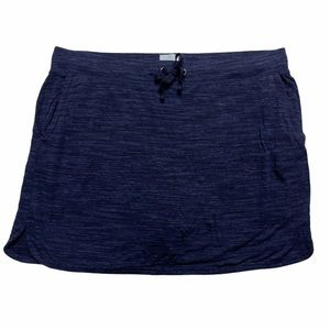 Sunday Blue Mini Terry Skirt XL